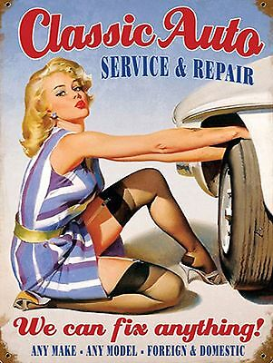Classic Auto Sign Man Cave Garage Shed Vintage Gift workshop Mechanic Cars