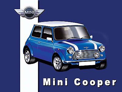 Mini Cooper Sign Man Cave Garage Shed Vintage Gift workshop Mechanic Cars