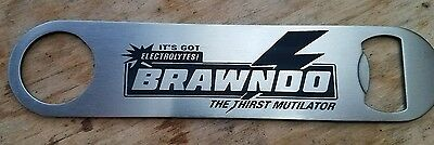 Idiocracy Brawndo stainless steel bottle opener/church key