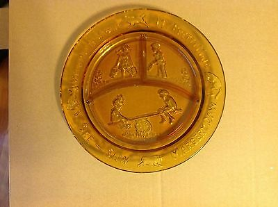 Vintage - Margory Daw - Tiaraglass Amver Nursery Rhyme Divided Childrens Plate