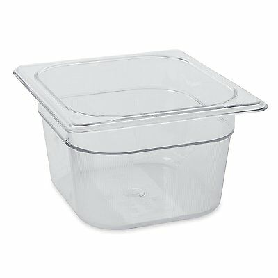 Rubbermaid Commercial Cold Food Pan, 1/6 Size, Clear, FG105P00CLR