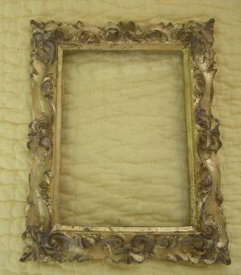 Beautiful Vintage Ornate Italian Florentine Wooden? Carved Frame~With Glass