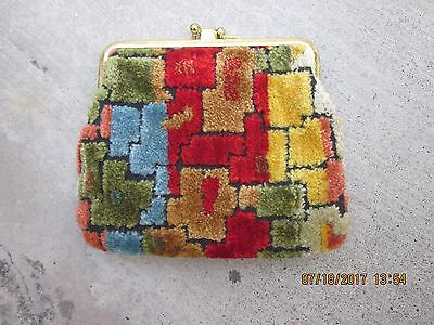 CLOTH LADIES Girls Teen Vintage TAPESTRY Clasp COIN PURSE Cloth Cute Handy