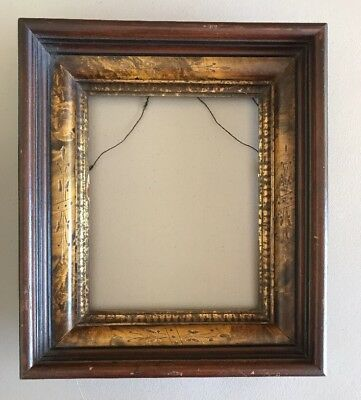 Antique Picture Frame 1860s Walnut Carved Deep Shadow Box Style Fancy