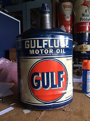 Vintage Gulf Motor Oil Gas Can in Great Condition