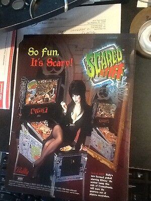 new pinball flyer Bally Williams Scared Stiff pinball Free Shipping Elvira