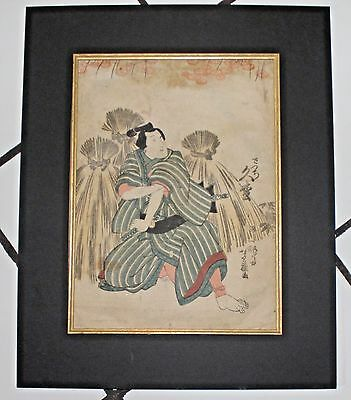 Antique Unframed Japanese Woodblock Print- 19Th C Entury Signed