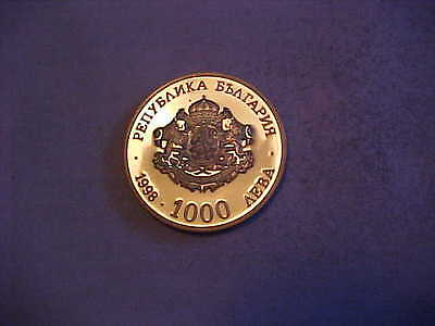 Bulgaria 1000 Leva 1998 Commem Proof