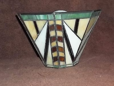 Partylite ARTISAN stained glass wall sconce - BEAUTIFUL!!! With Box