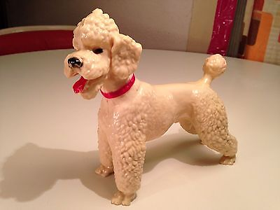 Vintage 1950's BREYER #67 GLOSSY WHITE POODLE Plastic Figure! Early Example