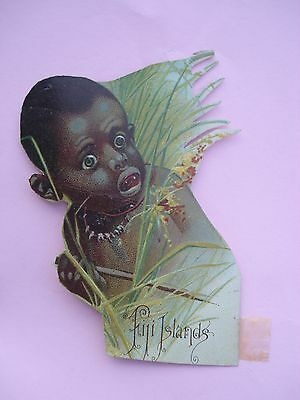 1889 McLAUGHLIN COFFEE 3 National Pictures Die Cuts FIJI EGYPT NATIVE AMERICAN