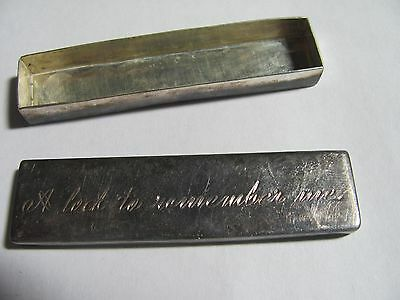 """Vtg Sterling Silver Hair Lock Box """" A Lock To Remember Me"""" 925"""