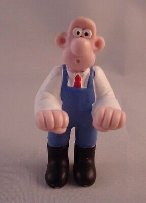 """Vintage 1989 Wallace & Gromit 2.5"""" Wallace PVC Figure Cake Topper Loose"""