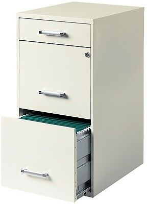 HIRSH 3-Drawer Steel File Cabinet Home Office Filing Storage Organizer Documents