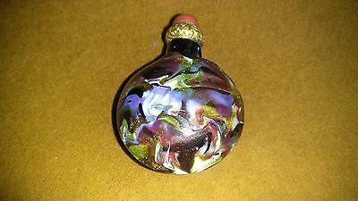 Antique Venetian Murano Aventurine Glass Perfume Snuff Bottle.