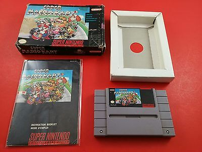 Super Mario Kart [CIB Complete in Box] (Super Nintendo SNES) Tested & Working