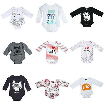 Newborn Infant Baby Girls Boys Romper Bodysuit Jumpsuit Outfits Sunsuit Clothes