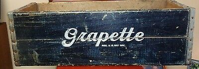 VERY VERY RARE Vintage GRAPETTE Bottle Soda Crate Case 24 x 9 x 8 inches.