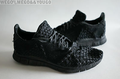 pretty nice 92e57 13392 Nike Free Inneva Woven II SP 813040-001 Triple Blackout 2 QS size 9