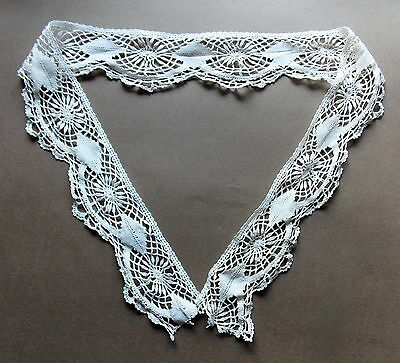 7cm X 97cm Length Of 19th Century Hand Made Cream Cotton Lace