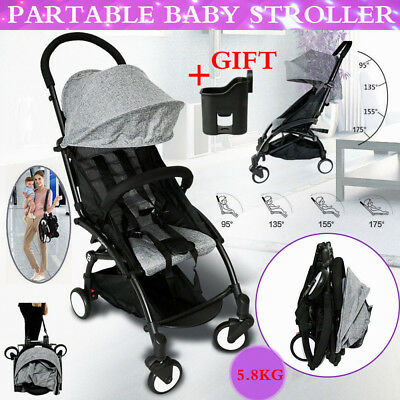 Pram Lightweight Foldable Pushchair Carry-on Travel Board Plane Baby Stroller