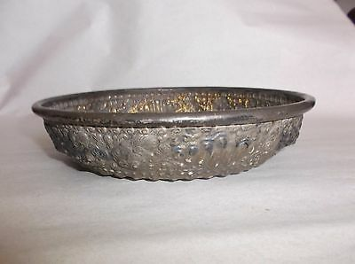 "Antique Kamasan Bali Silver Alloy Bowl, 215 g, Repousse Mythical Scene, 7 7/8""D"