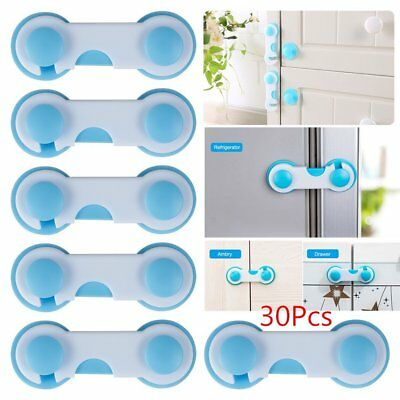 30X Baby Kid Drawer Cabinet Refrigerator Door Security Lock Protection Safety HM