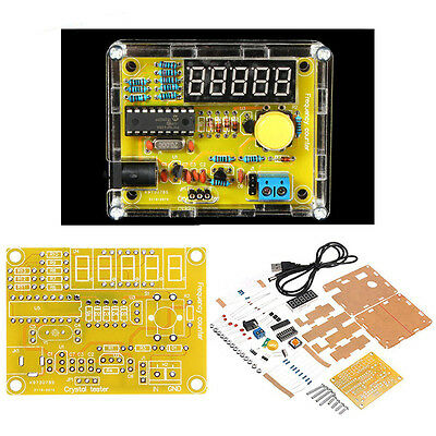 TS-905 1HZ-50MHZ Crystal Oscillator Tester Frequency Counter DIY Kit with Case