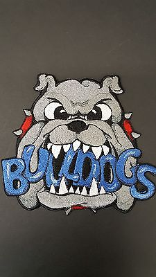 """Bulldogs Embroidered  Patch Approx. 6."""" W X 5.5 """" H"""