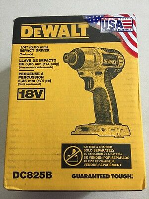 "NEW IN BOX DeWalt DC825B 1/4"" 18V Li-Ion Impact Driver (Tool Only) Free Shipping"