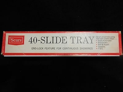 Vintage Sears 40-Slide Tray for All Projectors Using TDC-Type Trays - Set of 2