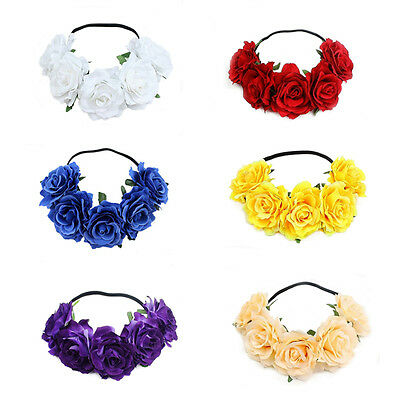 5 Roses Flowers Photography props Bride  Halloween party Headband