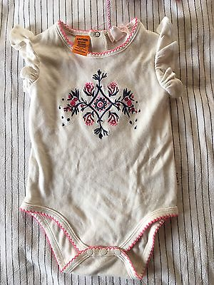 Pumpkin Patch Baby Girl Bodysuit Twin Pack BNWT Size 0 6-12 Months Pink Flowers