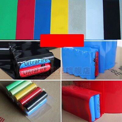 18650 Battery Pack Sleeve Φ65 Flat Width 103mm PVC Heat Shrink Tubing Wraps
