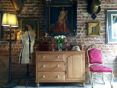Gorgeous Antique Chest of Drawers Cabinet Dresser Pine Victorian 19th Century