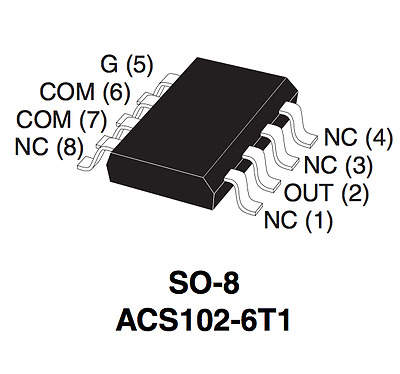 TRIAC ST ACS102-6T1-TR SOP-8 Transient protected AC switch