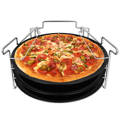 3x Pizzableche Pizzablech Set Pizza Flammkuchen Backblech Blech Backset Antihaft