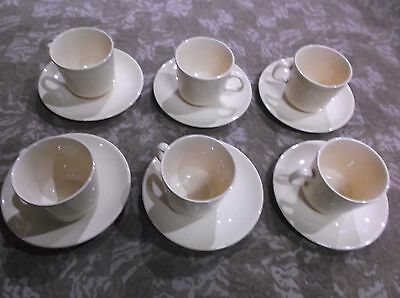 Set Of 6 Vintage Collectable Australian Made Cups And Saucers