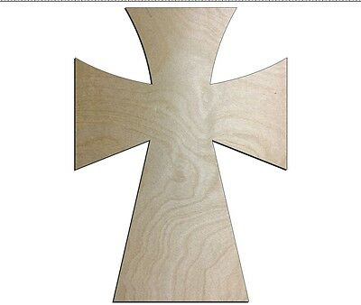 UNFINISHED WOOD CROSS SpeedGerm style 11'' tall - Quantity 10