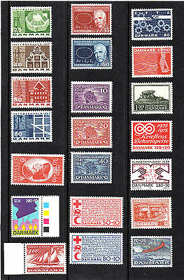 Nice Lot. Different Mint Stamps And Sets Of Denmark ,mnh**.