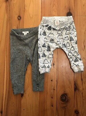 2 X Seed And Purebaby Pants Baby Boy 3-6 Months