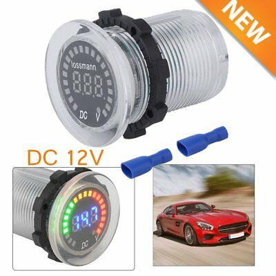 Waterproof 12V Car Van Boat Marine LED Voltmeter Voltage Meter Battery Gauge New