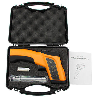 Non-Contact LCD IR Infrared Laser High Temperature I Thermometer Gun Pyrometer