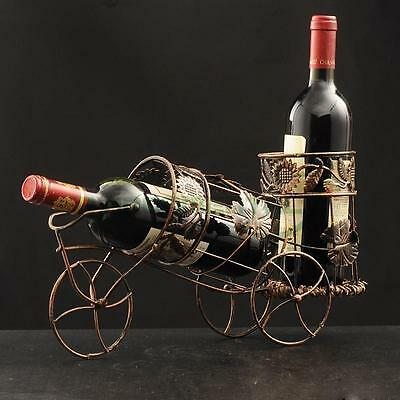 Retro Double Bottles Wine Rack Holder  Table Support Luxury Organizer Homeware