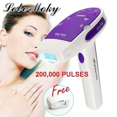 LOBEMOKY 200,000 Pulse Upgrade Permanent IPL Hair Removal Painless +2Cartridge