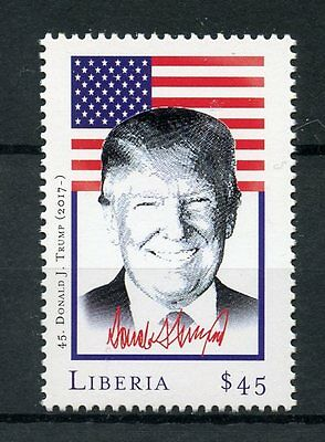 Liberia 2017 MNH Donald Trump 45th US Presidents of USA 1v Set Stamps