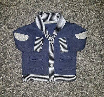Baby boy boys next cardigan jacket coat 0-3 months