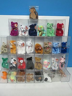 Lot of 31 Ty Beanie Babies with Protector Cases