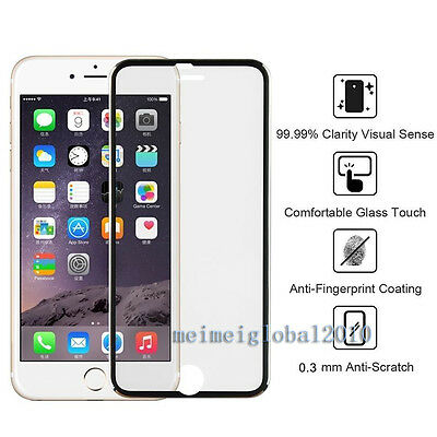 Tempered Genuine Glass Screen Protector Edge to Edge Black for Apple iPhone 6s