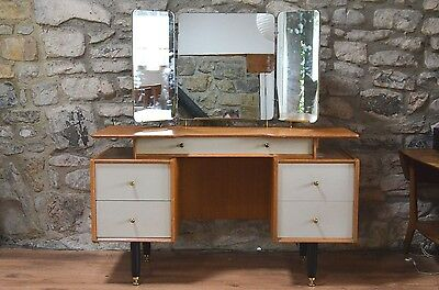 Mid century Early G-plan Dressing table Atomic from 50's -60's Gold Label